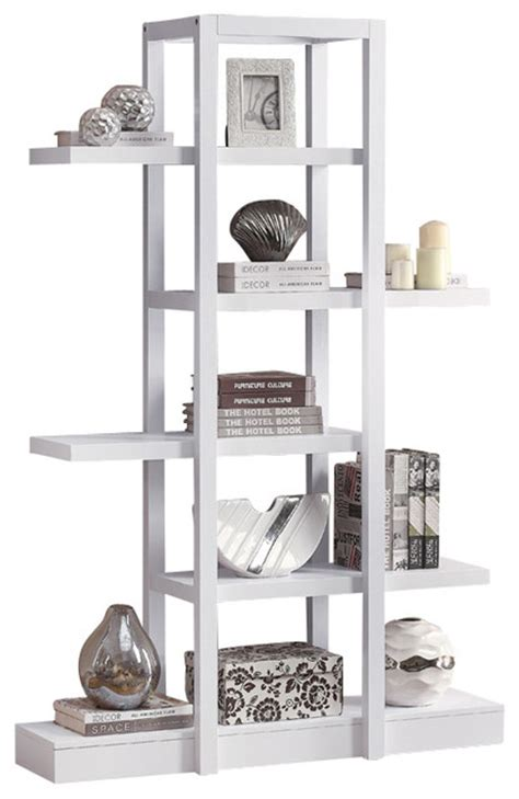 White Etagere Bookcase by Open Concept Display Etagere White Traditional