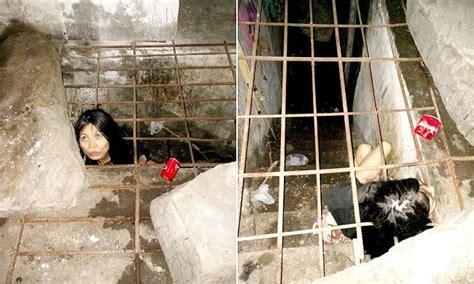 chinese woman  mental illness  locked  underground
