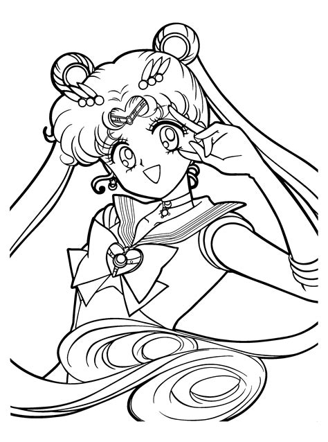 sailor moon crystal coloring pages  coloring