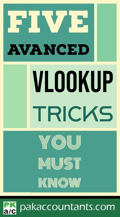 advanced excel vlookup tricks