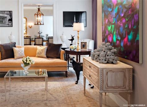 interior design living room colorful contemporary collections victor angelo Modern