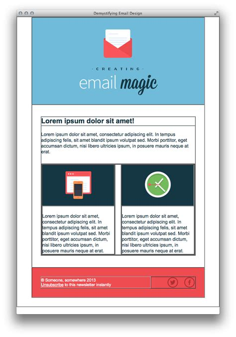designing an email template build an html email template from scratch
