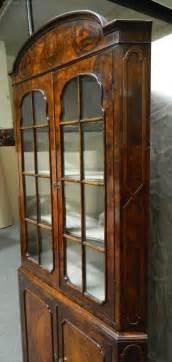 vintage corner cabinet walnut corner cupboard antiques atlas 3179