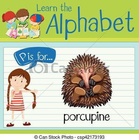 letter p words and pictures printable cards porcupine letter p words and pictures printable cards porcupine 62804