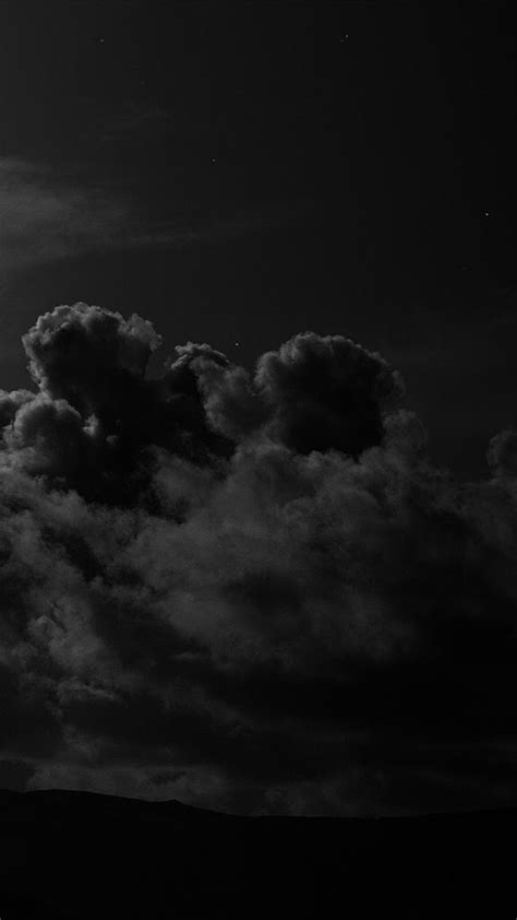 Aesthetic Black Wallpaper Iphone Hd by Iphone Sky Clouds Mysterious Creepy