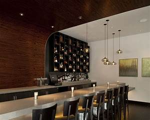 Vesu restaurant with niche modern hand blown aurora lights