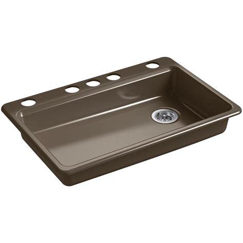 kohler sinks kitchen undermount kohler riverby undermount cast iron 33 in 5 single 6699