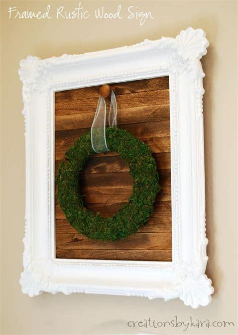 diy framed rustic wood sign