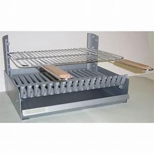 Grille Barbecue 60 X 40 : grilloir r glable en 3 hauteurs fonte 58x48 5x28 5 cm ~ Dailycaller-alerts.com Idées de Décoration