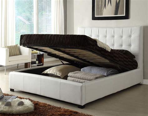 Stylish Leather Elite Platform Bed With Storage
