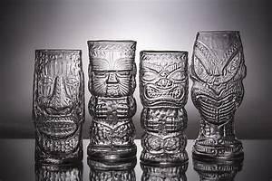 Glass Tiki Mugs by Andrew Iannazzi (Art Glass Drinkware