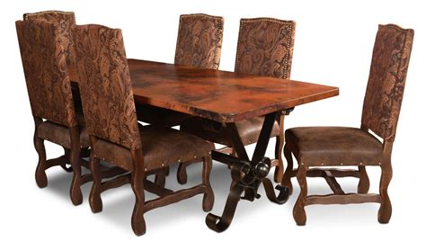 copper diningtable set copper dining table copper