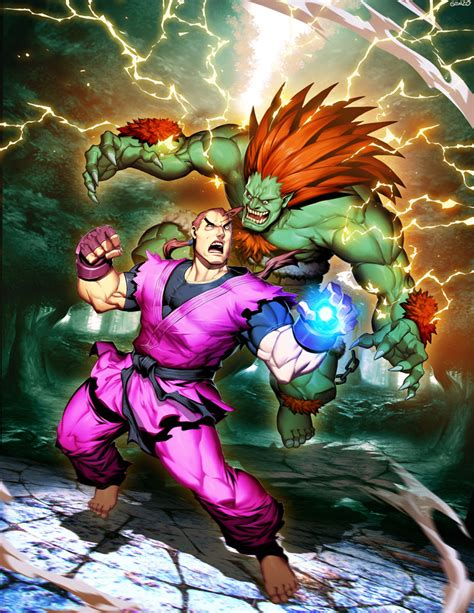 Street Figther Unlimited 6 Cover Blanka Vs Dan By