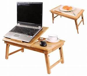 Table Pour Lit : table de lit pliable pour ordinateur portable avec ventilateur ~ Dode.kayakingforconservation.com Idées de Décoration