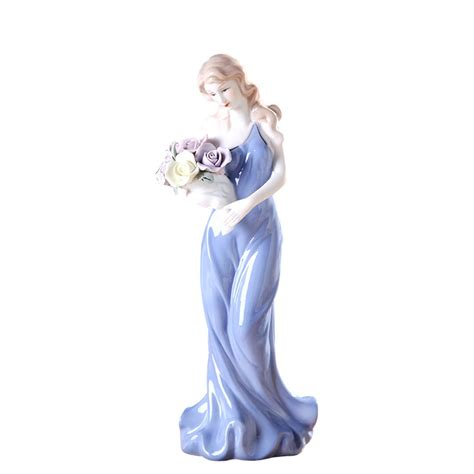 beautiful flower girl statues  garden  lawn