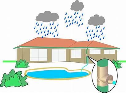 Harvesting Rain Rainwater Clipart Water Importance System