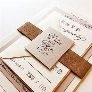 560 best wedding invitations images on pinterest With handmade wedding invitations cork