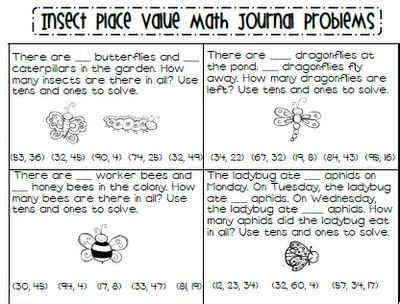 insect place value word problems freebie makes my teacher heart so happy math journals math