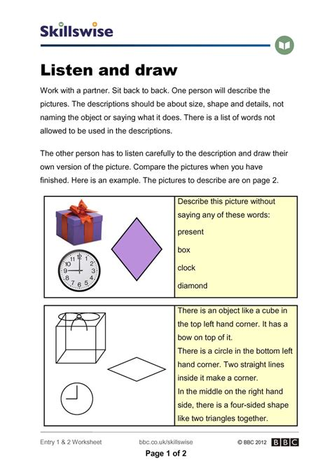 Active Listening Skills Worksheets Worksheets For All  Download And Share Worksheets  Free On