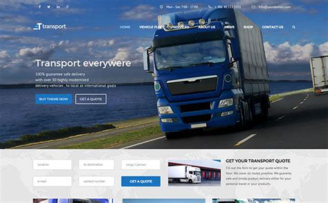 Company Onepage Website Templates 2016 by 15 Best Transportation Themes 2016 Athemes
