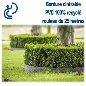 Bordure Jardin Pvc : bordure de jardin grise cintrable h14cm pvc recycl rouleau de 25ml ~ Melissatoandfro.com Idées de Décoration