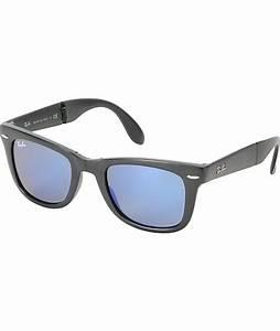 Ray-Ban Folding Wayfarer Matte Black Sunglasses | Zumiez