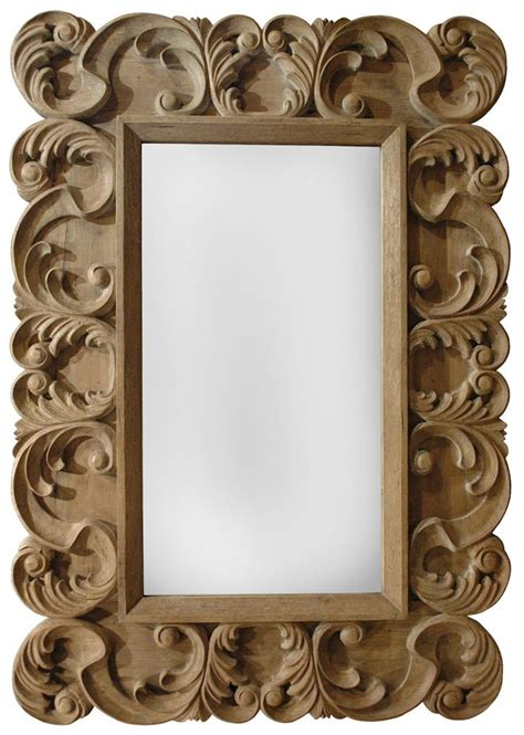 halo styles chambord grand carved wood framed mirror