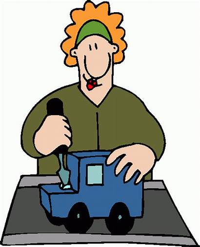 Worker Factory Clip Clipart Workers Cartoon Machinist