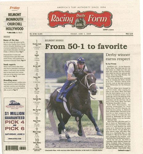 daily racing form a focus horses keeps the daily racing form free of online anxiety the new york times