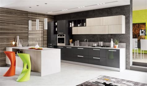 cuisine grise et blanc decoration cuisine gris et blanc