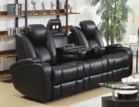 sofa interesting black leather reclining sofa 2017