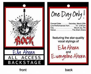 Images of Free Printable Backstage Pass Template - #golfclub