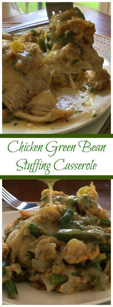 chicken green bean stuffing casserole small town woman