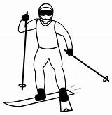 Skiing Clip Clipart Ski Winter Cross Skier Country Sport Snowboarding Snowman Illustration Abcteach Nordic Background Olympics Line Cliparts Library sketch template