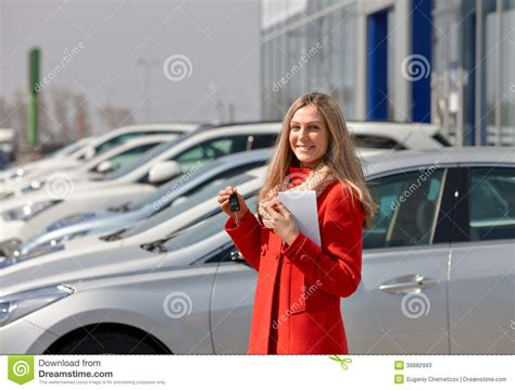 Girl And Car Stock Image. Image Of Selling, Driver