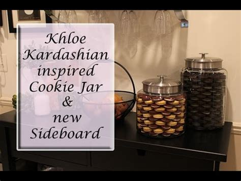 Oreo Cookie Jar Khloe Kardashian Khloe Kardashian Inspired Cookie Jar And New Sideboard