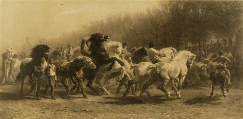 horse fair engraving original artwork  rosa bonheur