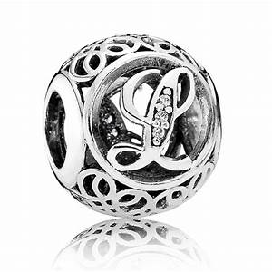 Pandora vintage letter l charm 791856cz from gift and wrap uk for Pandora vintage letter charms