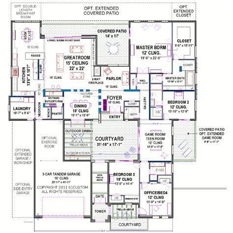 courtyard home plans modern courtyard house plan