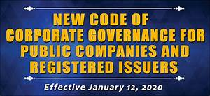 New Code Of Corporate Governance