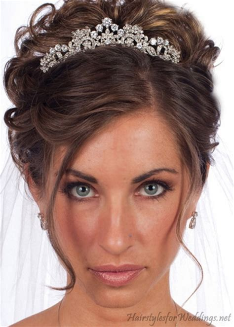 Half Up Wedding Hairstyles With Tiara by Bridal Hairstyle With Tiara
