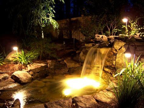 garden pond lighting ideas make garden pond through amazing pond design ideas freshnist