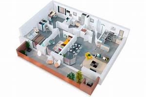 plans de vente 3d de logements les yeux carres With plan d appartement 3d 3 une maison 224 toulouse