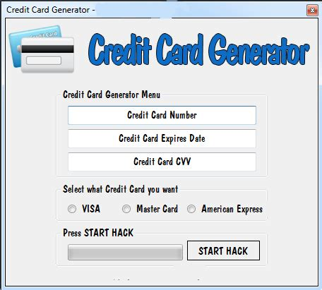 fake credit card number generator valid fake card number
