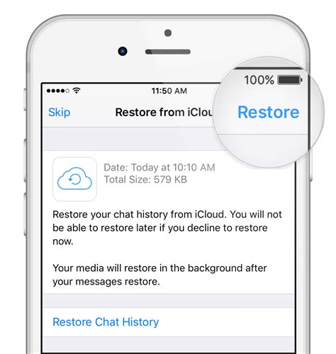 how to refurbish a whatsapp faq restoring your chat history