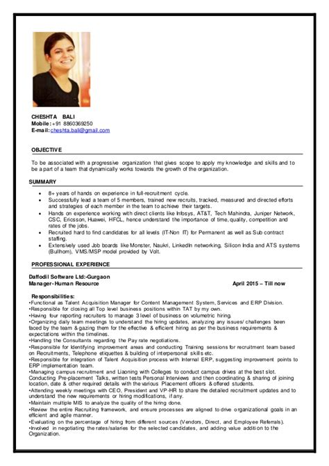 Upload Resume In Cognizant by Cheshta Bali Resume Looking For Opportunity