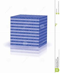 Cube With Binary Code Stock Photo - Image: 29324100