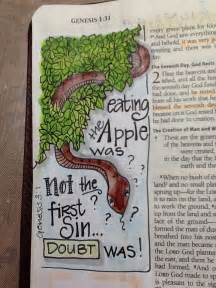 Art Journaling Bible Genesis 1