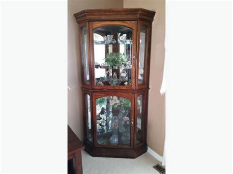 oak corner curio cabinet solid oak corner curio cabinet rural regina regina