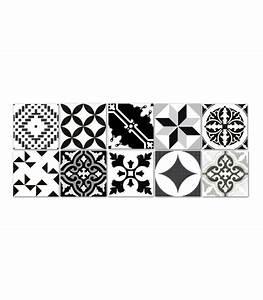 Carreaux De Ciment Autocollant : stickers pour carrelage salle de bain ou cuisine bento ~ Premium-room.com Idées de Décoration